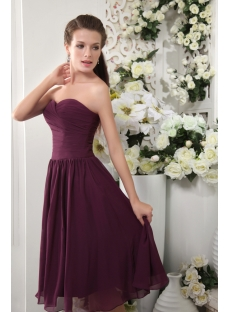 Discount Tea Length Deep Purple Bridesmaid Dresses IMG_0113