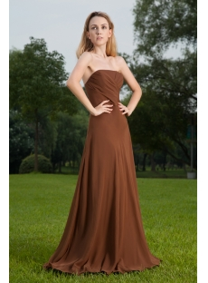 Elegant Long Brown Formal Prom Dress 2012 IMG_8522