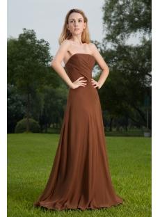 Elegant Long Brown Formal Prom Dress 2012 IMG_8522
