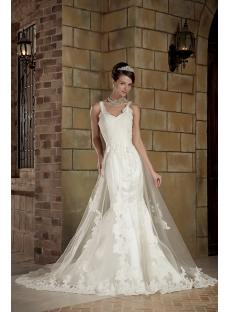 Elegant Straps Lace Sheath Bridal Gown GG1004