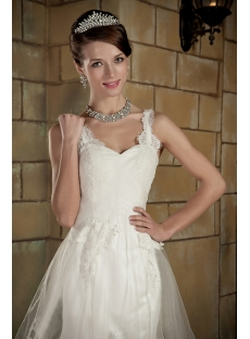 Elegant Straps Lace Sheath Bridal Gown GG1004