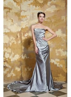 Elegant Sweetheart Long Silver Prom Dresses 2012 GG1058