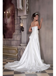 Elegant and Gorgeous Strapless Long Bridal Gown with Flowers GG1032
