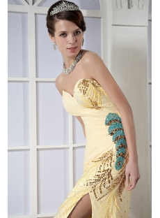 Exclusive Yellow Long Prom Dress 2013 Sale GG1026