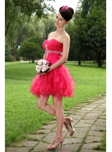 Fuchsia Beautiful Short Quinceanera Dresses 2012 IMG_0990