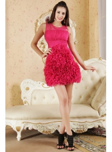 Fuchsia Beautiful Short Quinceanera Dresses IMG_5361