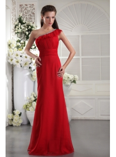 Glamorous Red One Shoulder Long Prom Dress 2013 IMG_9976