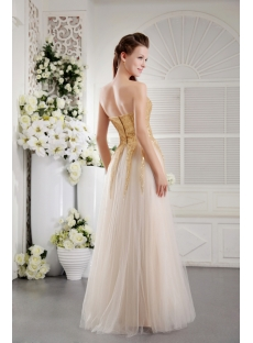 Gold Sequins Long Simple Ball Gown 2013 IMG_9728