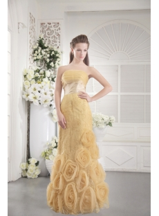 Gold Sheath Quince Gown 2012 with Floral IMG_9741