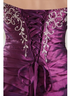 Grape A-line Strapless Prom Dress for Large Size Girl IMG_9827