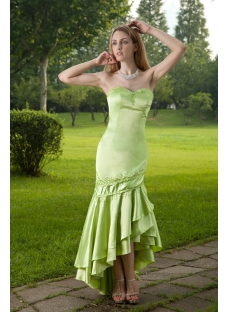 Green Cute High-low Celebrity Prom Dress IMG_8290