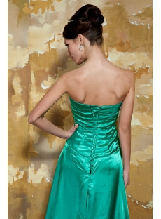 Green and Leopard Slit Front Prom Dress GG1059