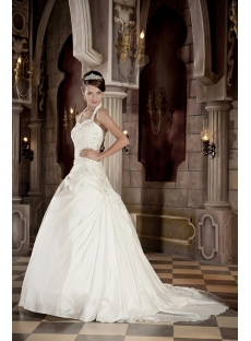 Halter Beautiful Wedding Gowns Ball Gown Style GG1002