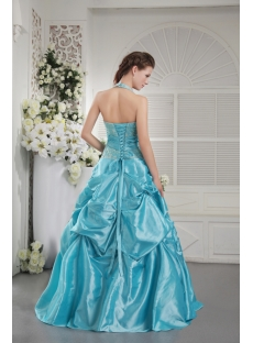 Halter Cheap Quinceanera Dress in Blue IMG_9787