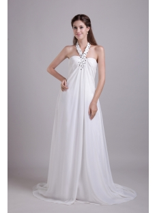 Halter Strapless Pregnant Wedding Dresses Cheap 0802
