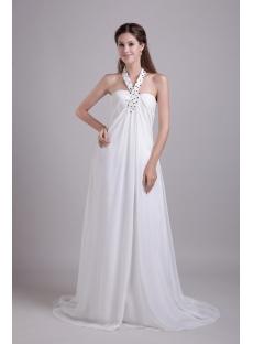 Halter Strapless Pregnant Wedding Dresses Cheap 0802