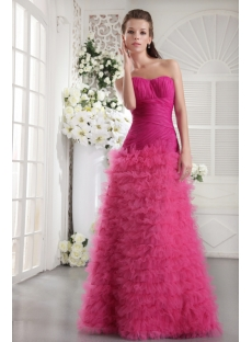 Haute Hot Pink Long Sweet 16 Dress IMG_9925