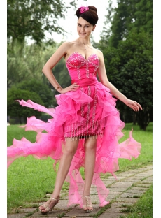 Hot Pink High Low Sweet 16 Dresses IMG_1003
