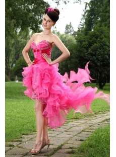 Hot Pink High Low Sweet 16 Dresses IMG_1003:1st-dress.com