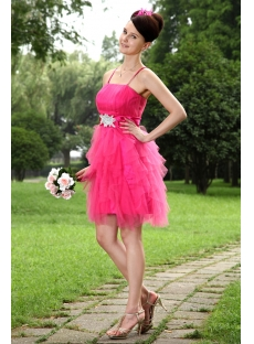Hot Pink Sweet Short Quinceanera Dresses IMG_0969