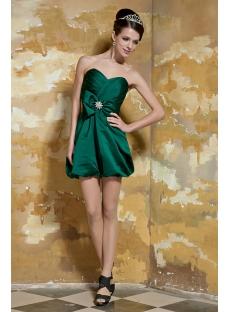 Hunter Green Cute Short Graduation Dresses for Girls Age 12 GG1056