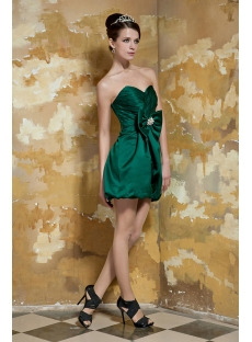 Hunter Green Cute Short Graduation Dresses For Girls Age