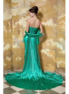Hunter Green Long Prom Dress 2013 with High Slit GG1042
