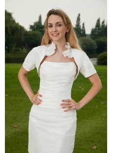 Informal Short Wedding Bridal Gown with Jacket IMG_8056