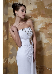 Ivory Long Casual Sexy Beach Bridal Gowns with Keyhole GG1035