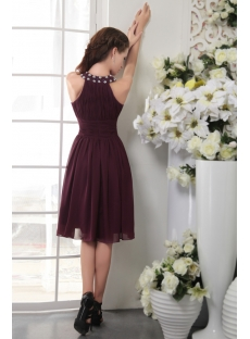 Jewel Cheap Short Grape Purple Bridesmaid Dresses IMG_0107