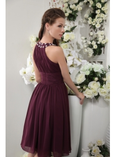 Jewel Cheap Short Grape Purple Bridesmaid Dresses IMG_0107
