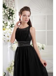 Knee Length black 2012 Modest Prom Dress IMG_0076
