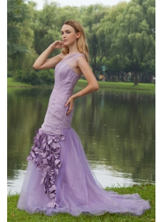 Lavender One Shoulder Mermaid Prom Dress Pretty IMG_7965