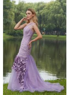 Lavender One Shoulder Mermaid Prom Dress Pretty IMG_7965