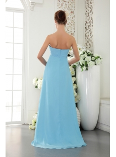 Light Blue Chiffon Military Prom Ball Gown IMG_9641