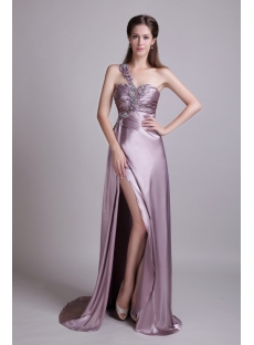 Light Lilac 2012 Evening Gown with High Slit IMG_0621