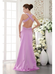 Lilac Criss-Cross Sexy Evening Dress with Train IMG_9462