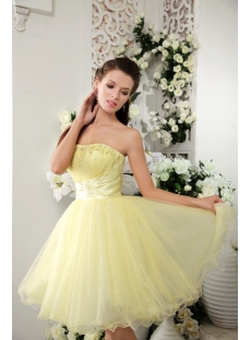 Maize Yellow Short Sweet Sixteen Dresses IMG_0249