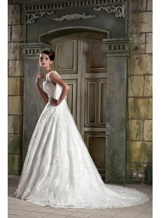 Modest Lace Ball Gown Bridal Gown GG1080