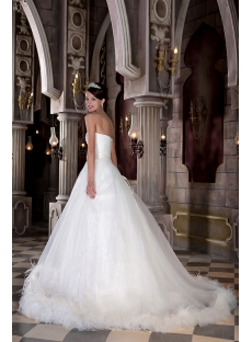 New Arrival Beautiful Ostrich Feather Bridal Ball Gown 2013 GG1033