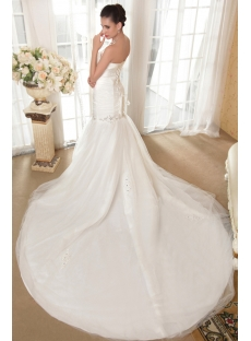 Noble Mermaid Winter Bridal Gown with Train IMG_5726