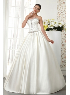 Noble Satin Winter Wedding Dress with Corset IMG_5521