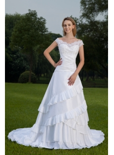 Off Shoulder Lace Princess Bridal Gown IMG_8536