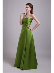 Olive Green Long Formal Evening Dress with Jacket IMG_0696