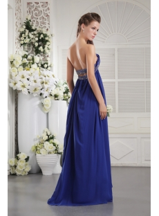 Open Back Chiffon Royal Maternity Sexy Prom Dress IMG_9846