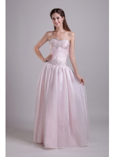 Pearl Pink Quinceanera Gown with Corset 0832