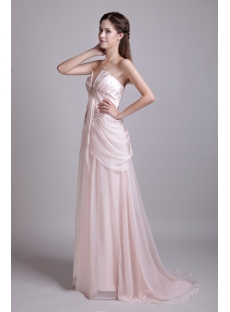 Pearl Pink Simple Masquerade Ball Gown Cheap IMG_0613