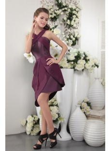 Petal Short Dark Purple Graduation Dress IMG_0121