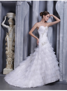 Petite A-line Princess Bridal Gown with Train 1112
