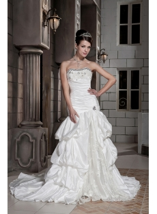 Petite Strapless Long Vintage Bridal Gowns GG1090